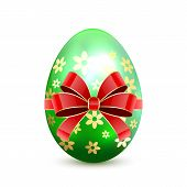 Green Easter Egg With Bow