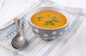 Pumpkin Cream Soup With Parsley