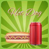 Vintage hotdog poster design