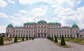 Tourists In The Belvedere Palace, Vienna.