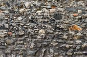 Pattern Gray Color Of Modern Style Design Decorative Uneven Cracked Real Stone Wall Surface With Cem