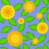 Texture Of Sunflowers