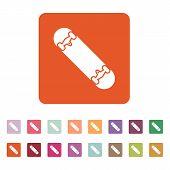 image of skateboard  - The skateboard icon - JPG