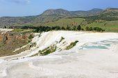 pic of natural phenomena  - Famous travertine terraces in Pamukkale  - JPG