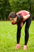 Calf Injury - Sportswoman In Pain