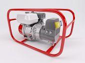 stock photo of generator  - 3D render of a Gas powered generator - JPG