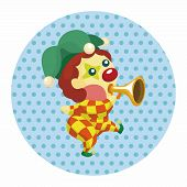 image of clown face  - Clowns Theme Elements - JPG