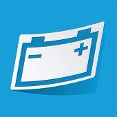 picture of accumulative  - Sticker with accumulator icon - JPG