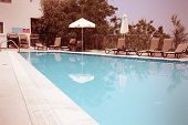 pic of sun-tanned  - Generic vacation resort in Crete island in Greece - JPG