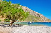 pic of greek  - Greek pebble beach in a beautiful quiet bay - JPG