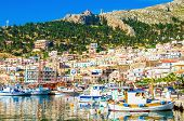 pic of greek  - Port full of small fishermen - JPG
