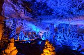 stock photo of cave  - Soreq Avshalom Cave located in the Judean Mountains Israel - JPG
