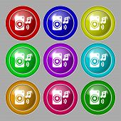 foto of music symbol  - music column disco music melody speaker icon sign - JPG