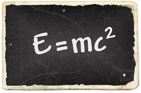 picture of einstein  - Albert Einsteins theory of relativity on old photo paper background - JPG