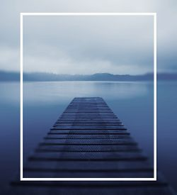 picture of jetties  - Tranquil Peaceful Lake Jetty Nature Concept - JPG
