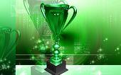 Digital illustration of Trophy in 3d