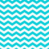 White and Aqua Zig Zag Pattern