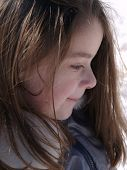 Profile Of Adorable Girl