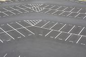 large empy parking lot corner