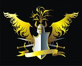 foto of armorial-bearings  - Composition with shield - JPG
