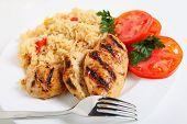 Cajun Reis und Huhn horizontal
