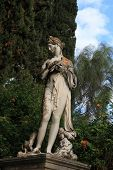Statue in Achillion Palace corfu