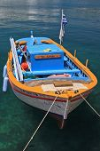 Fishing boat in  the harbor of Kefallonia island in Greece