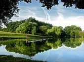 Pond at Conlie in France