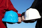 stock photo of hard_hat  - two hard - JPG