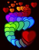 Colored Hearts