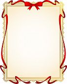 Background with ornaments and red bow