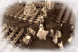 foto of ecclesiastical clothing  - the weddind moment  - JPG