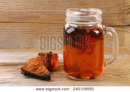 Healing Tea From Birch Mushroom