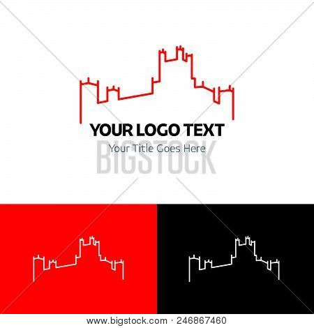 poster of Castle Logo Template Vector Icon On White Background. Castle Logo Template Modern Icon For Graphic A