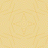 Yellow Geometric Lines Seamless Pattern. Elegant Vector Linear Background. Modern Abstract Graphic T poster