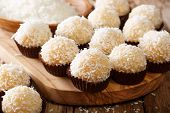Brazilian Coconut Kisses (beijinhos De Coco  Are Traditionally Made From A Mixture Of Sweetened Cond poster