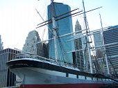 Underside South Street Seaport Ship