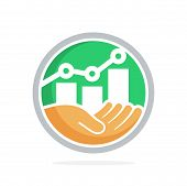 Icon Vector Illustration With The Concept Of Business Investment Management, Business Prospect Plann poster
