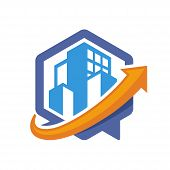 icon illustration with the concept of directional communication media, about the city guide information.