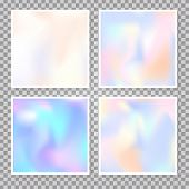 Hologram Abstract Backgrounds Set. Futuristic Gradient Backdrop With Hologram. 90s, 80s Retro Style. poster