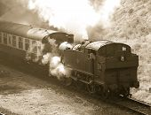 Steam Train In Sepia49