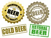 Set Of Beer Label And Stamps