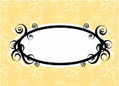 Swirls oval frame