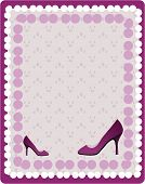 Violet background with violet shoes and dots