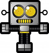 picture of gizmo  - This robot is stylized with a really thick border - JPG
