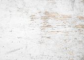 Vintage Background White Wood. Old And Weathered Wood With White Paint Background. poster