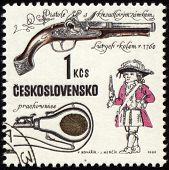 Ancient Pistol On Post Stamp