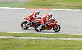 250cc rider in action at Sepang MotoGP
