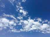 Beautiful Blue Sky With Clouds Background.sky Clouds.sky With Clouds Weather Nature Cloud Blue.blue  poster