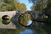 Old bridge over Canal du Midi